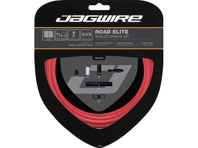 Jagwire Road Elite Sealed Bremszugset rot